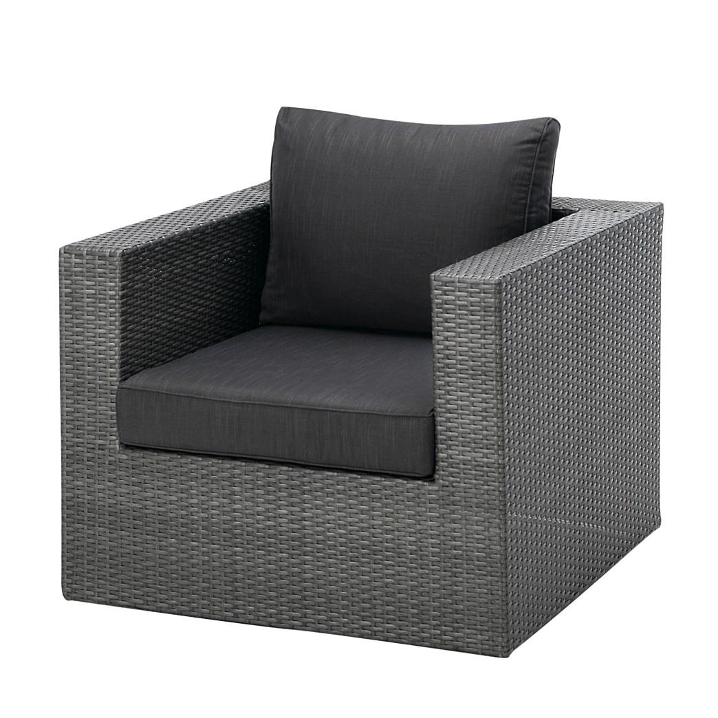 "Lounge-Sessel ""Aruba"" aus Polyrattan, anthrazit"
