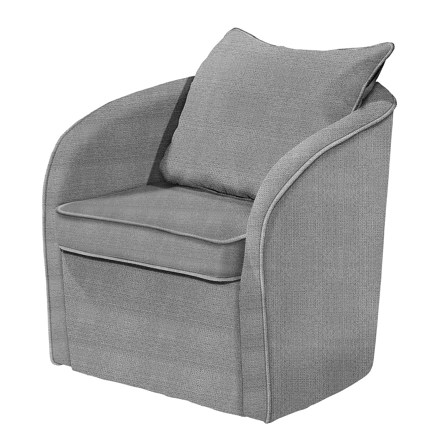 Fauteuil Marcy - Tissu - Gris, Fredriks
