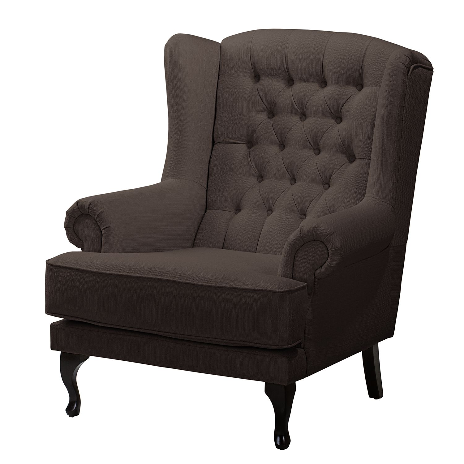 Home24 oorfauteuil miscol geweven stof zonder hocker for Home 24 sessel