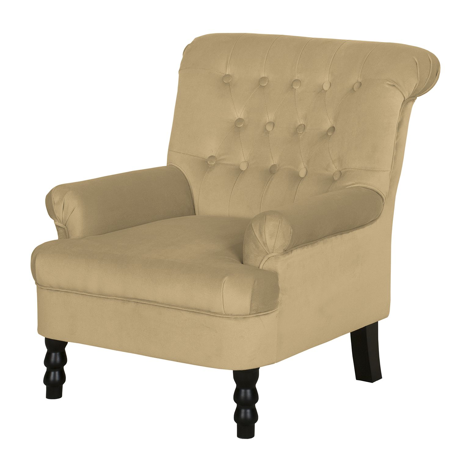 Fauteuil New Mill - Microfibre - Sans repose-pieds - Sable, Jack and Alice