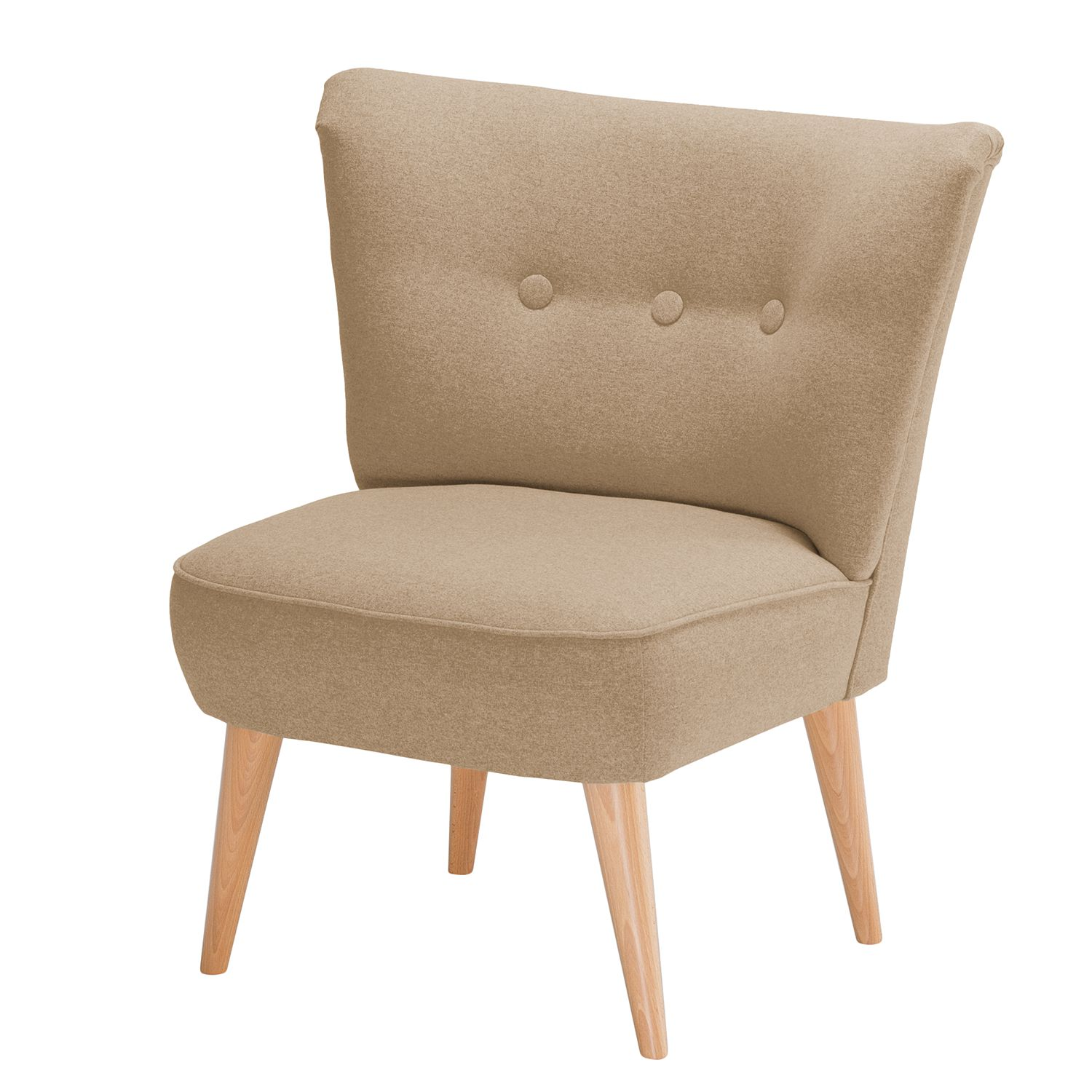 goedkoop Fauteuil Bumberry I vilt Warm beige Morteens