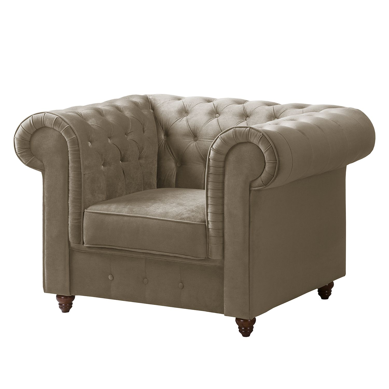 home24 Chesterfield Sessel Pintano | Wohnzimmer > Sessel > Chesterfield Sessel | Braun | Maison Belfort
