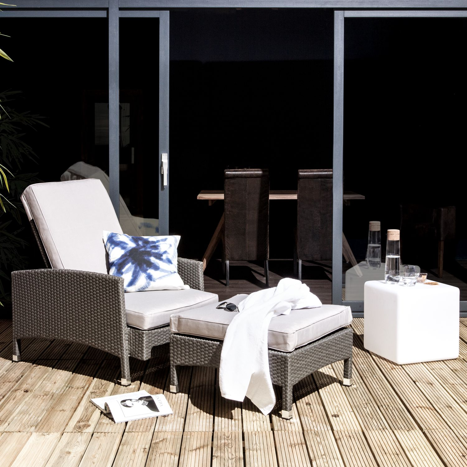 Sessel-Set Paradise Lounge (mit Hocker)