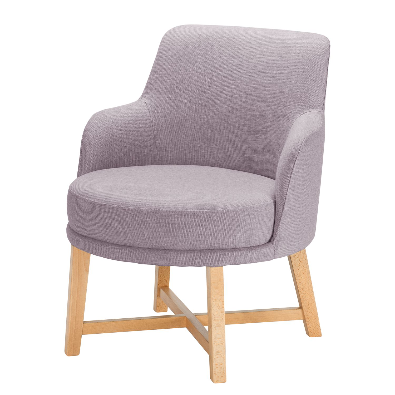 home24 Mørteens Sessel Siabu Flieder Strukturstoff 67x79x68 cm (BxHxT)