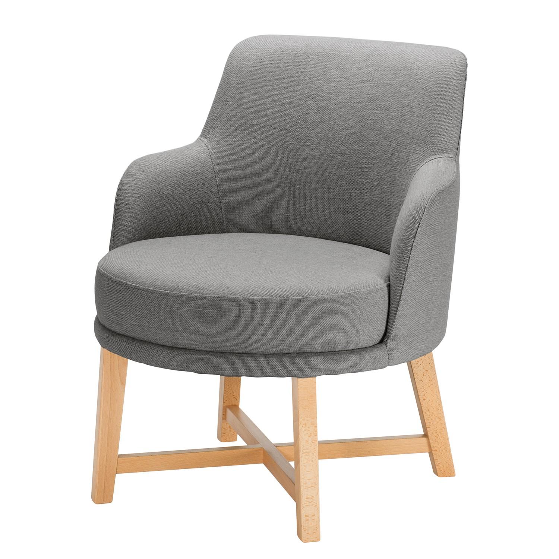 home24 Mørteens Sessel Siabu Grau Strukturstoff 67x79x68 cm (BxHxT)