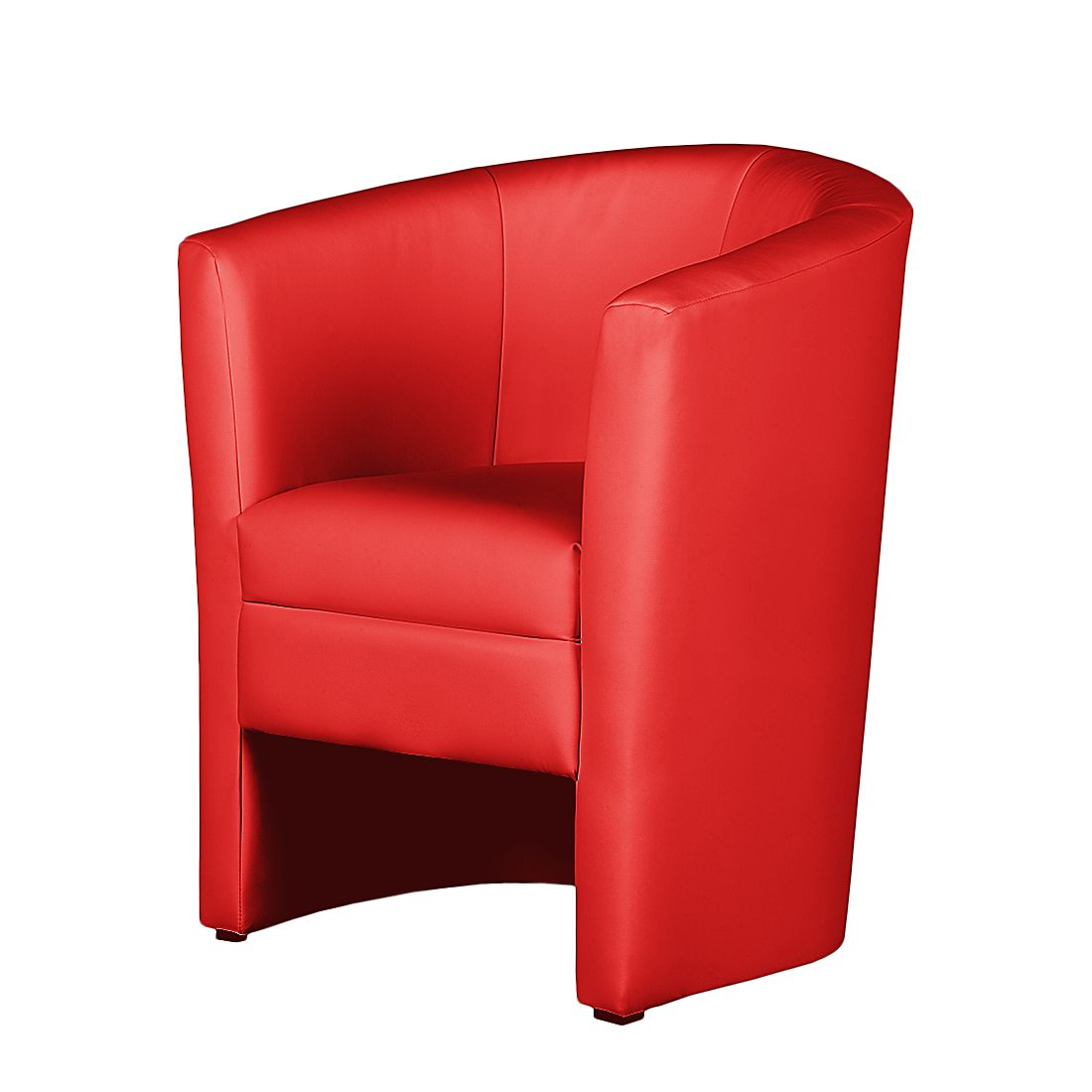 Fauteuil Sinclair I - Imitation cuir - Rouge, Fredriks