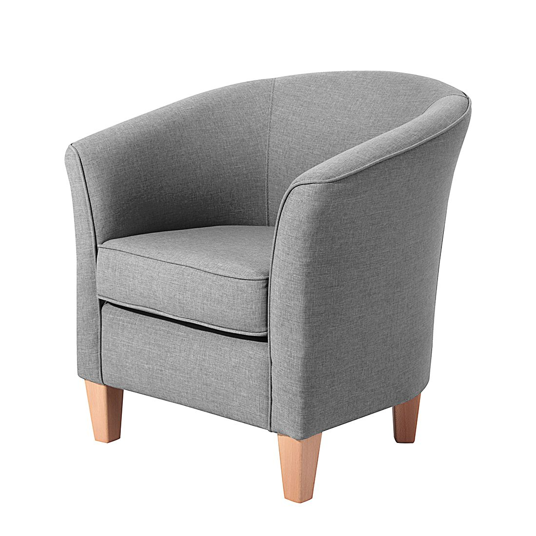 Kleine Sessel sessel lou stoff grau home24