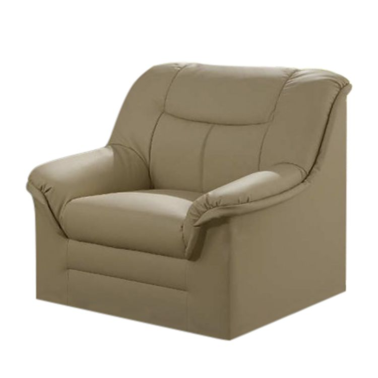 Fauteuil Weißensee - Cuir synthétique - Cuir synthétique, crème, Home Design