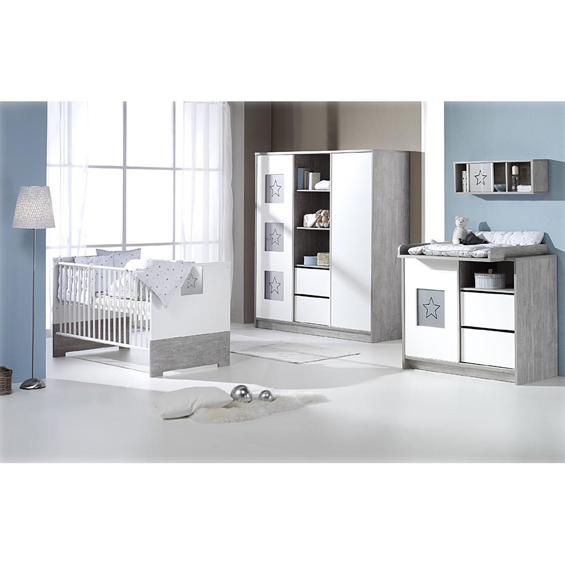 home24 Babyzimmer Eco Star (3-tlg.) | Kinderzimmer > Babymöbel | Grau | Holzwerkstoff | Schardt