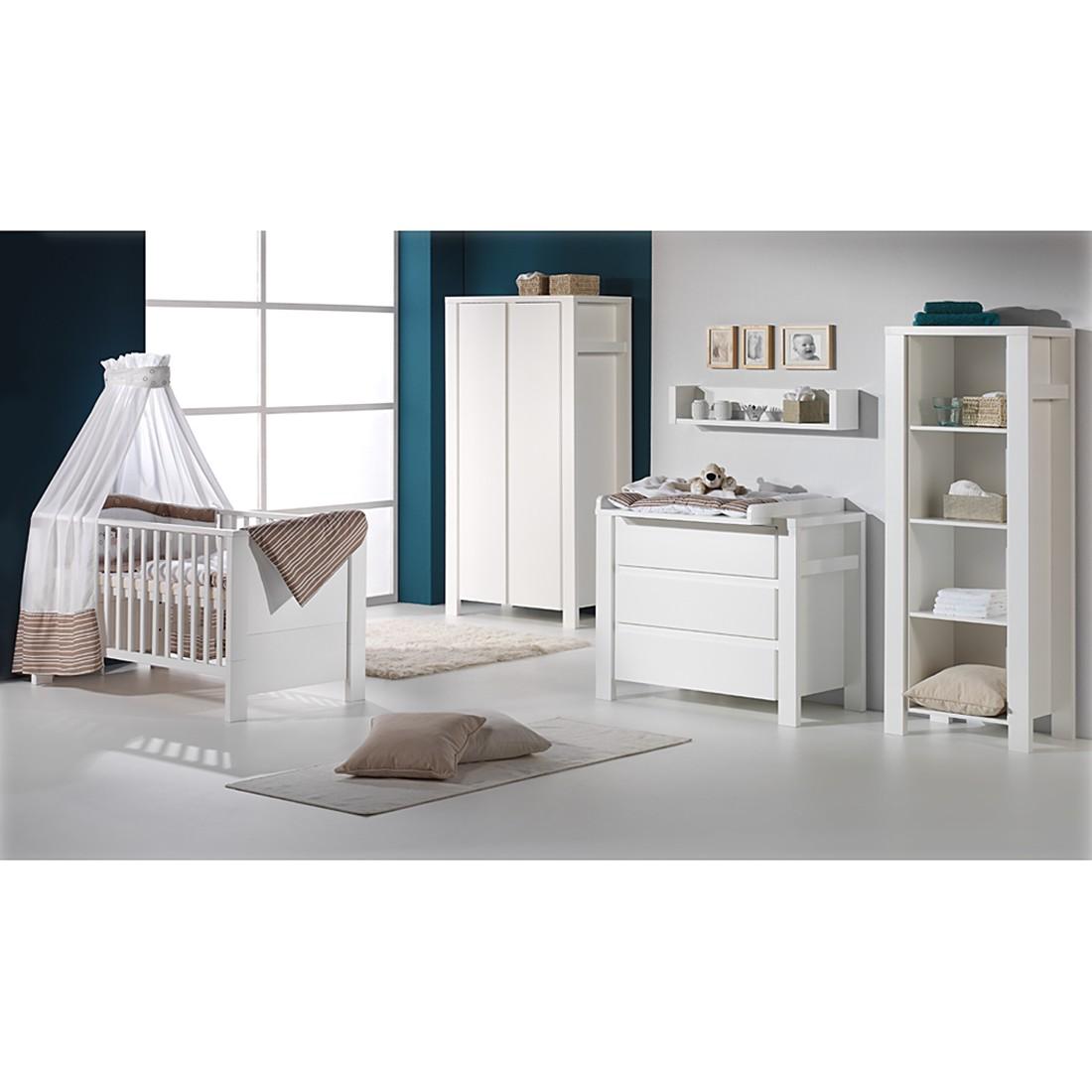 Babyzimmer Milano - Weiß - mit 2-trg. Schrank, ...