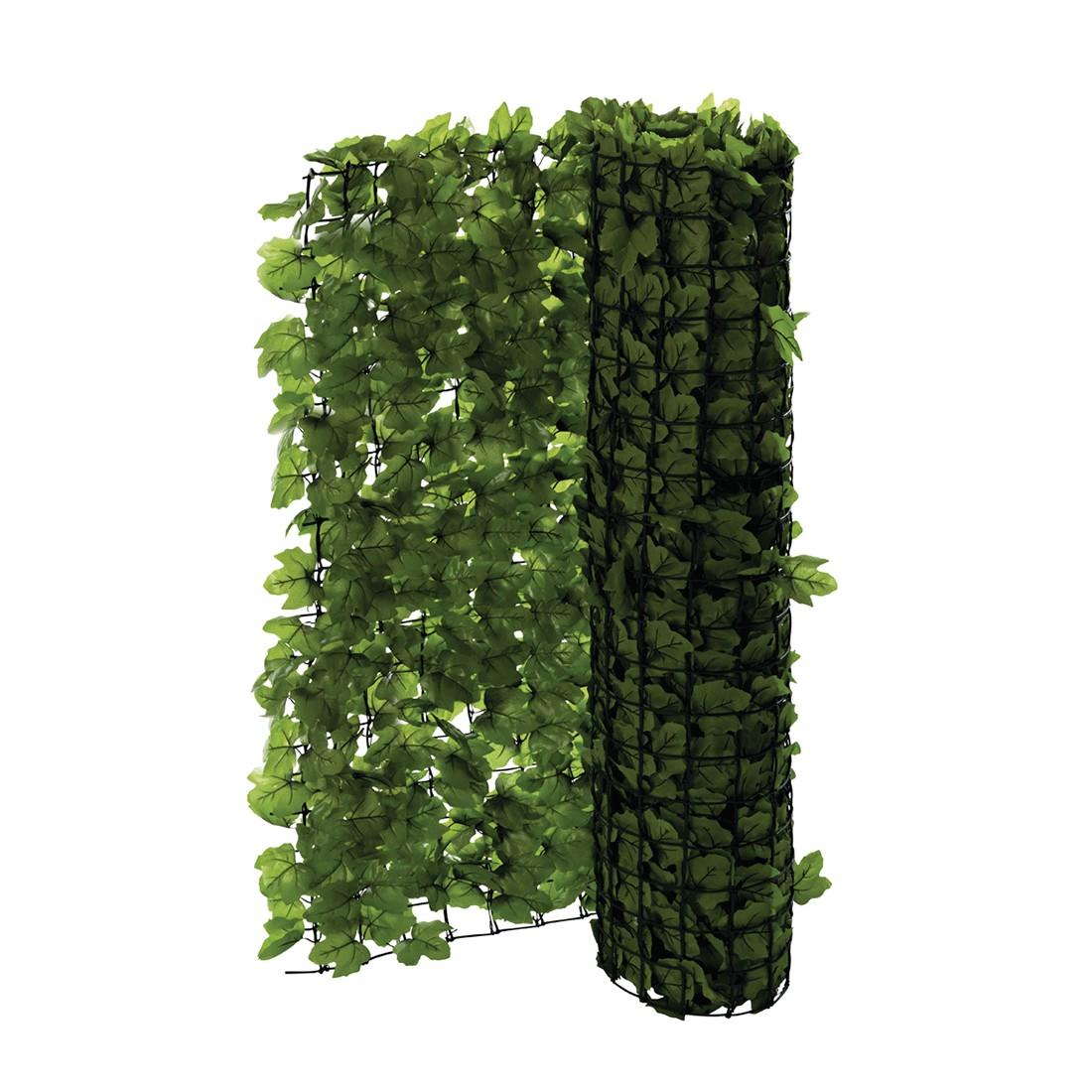 Sichtschutz Efeu - Kunststoff - Grün, Pure Day