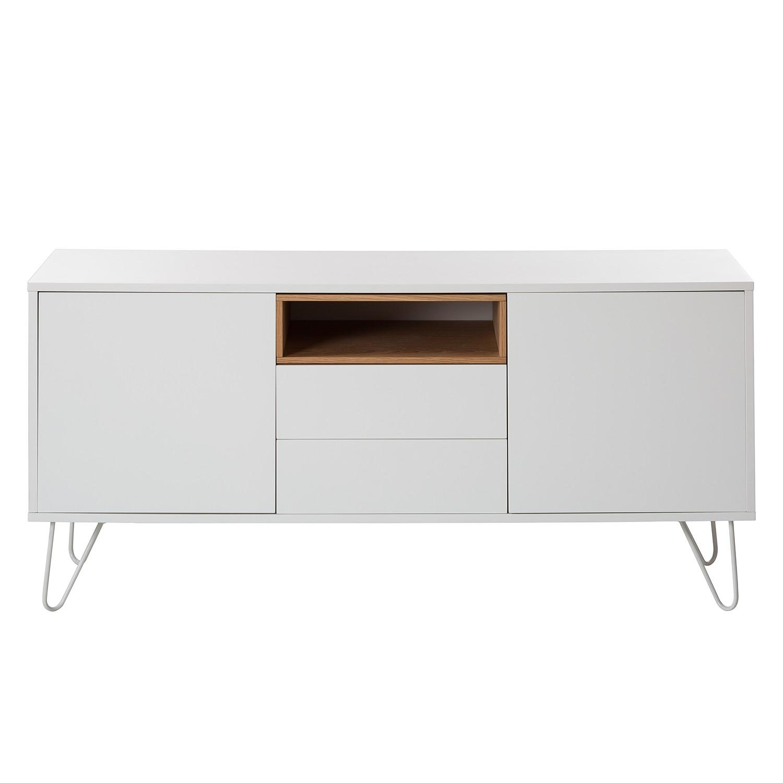 Sideboard ANNOPOL - Weiß / Eiche