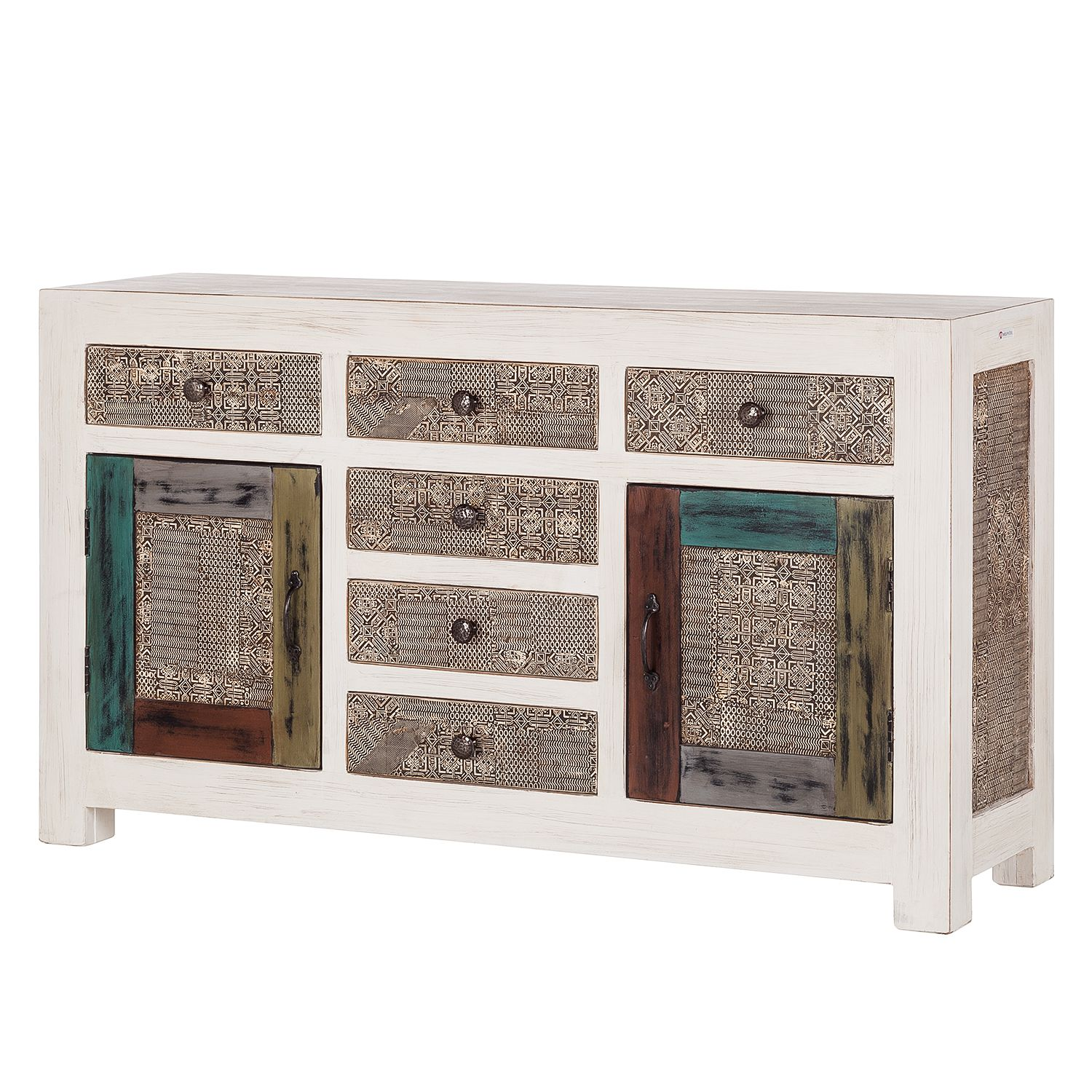 home24 Sideboard Goa White
