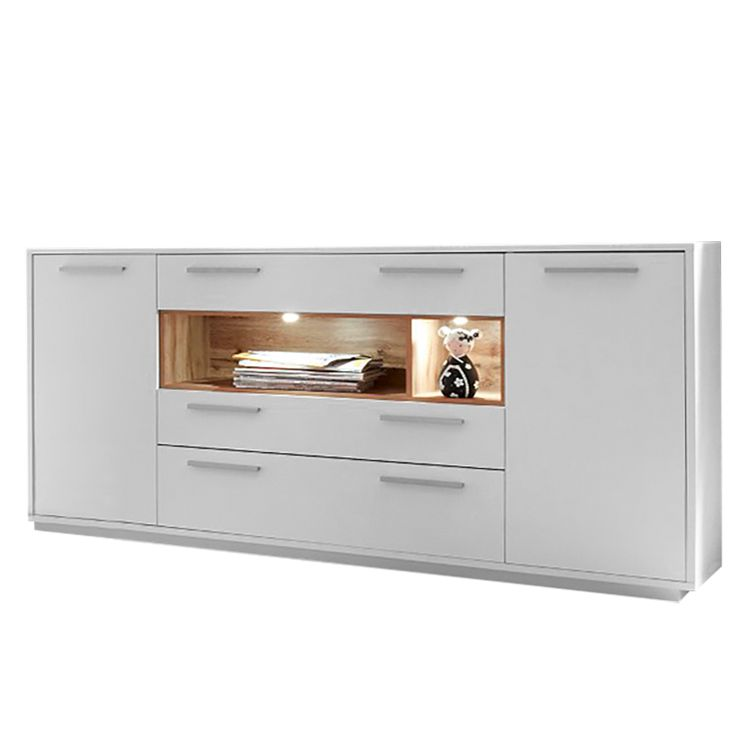 home24 Sideboard Guardo (inkl. Beleuchtung)