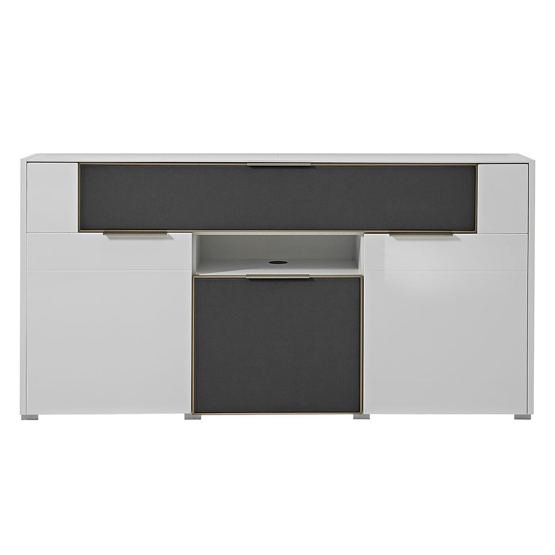 sideboard weiss hochglanz 180 cm machen sie den. Black Bedroom Furniture Sets. Home Design Ideas