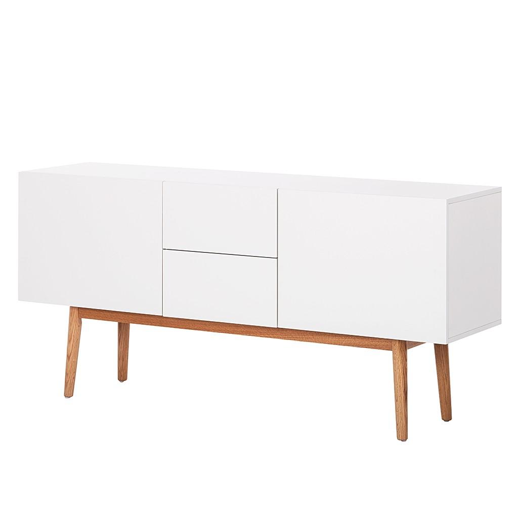 Sideboard lindholm iii weiss dekor eiche massiv 3711473