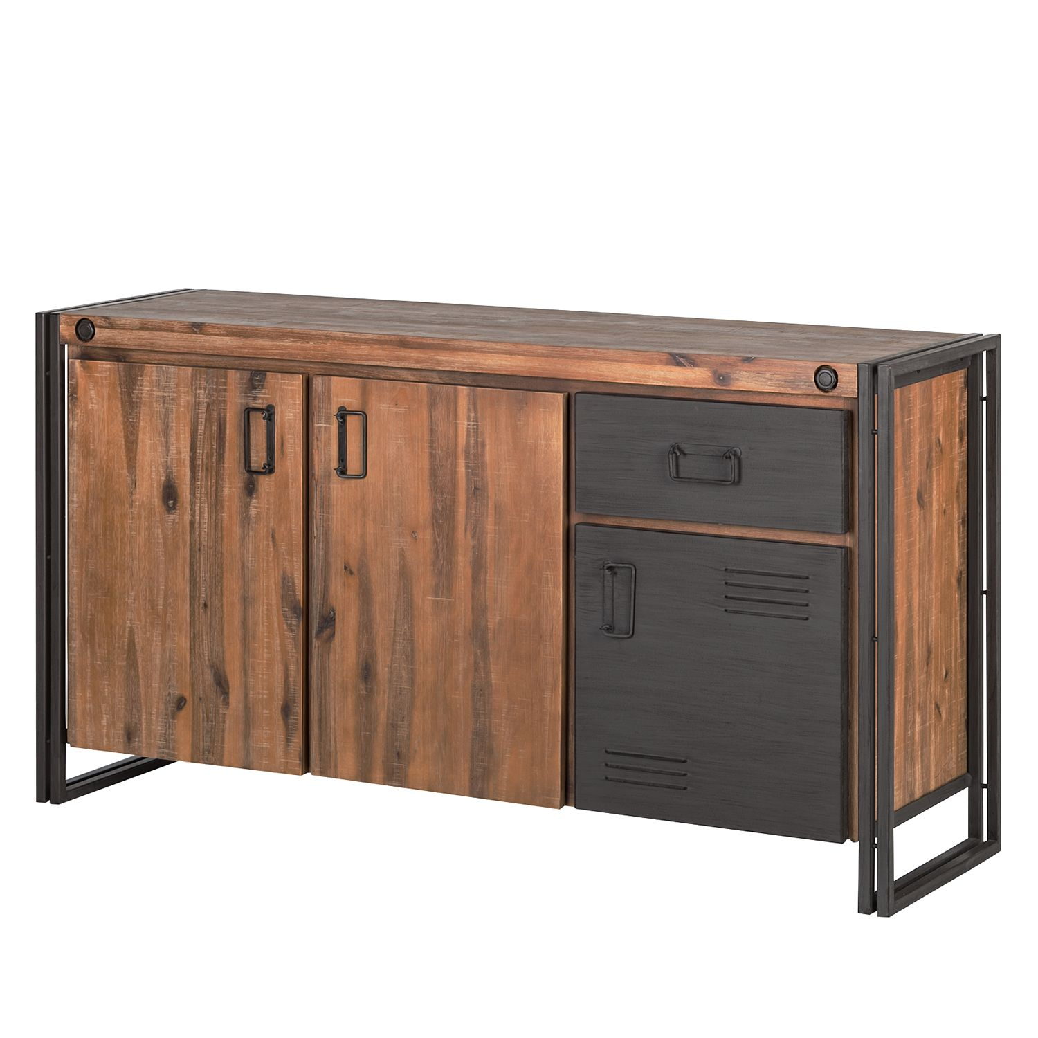 Sideboard Manchester I - Akazie massiv/Metall
