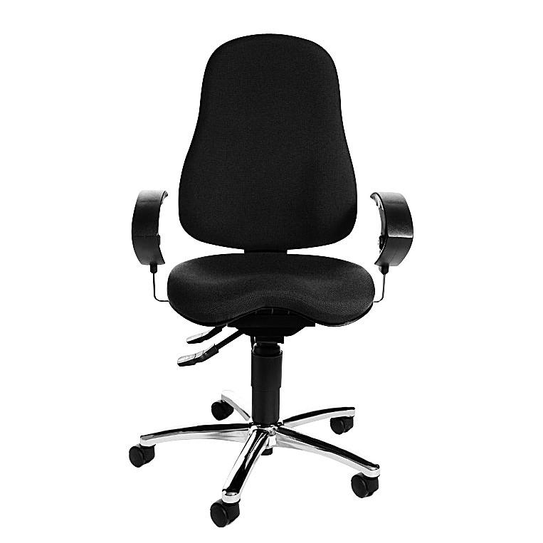 Bürodrehstuhl Sitness 10 - mit Orthositz - Schwarz, Topstar