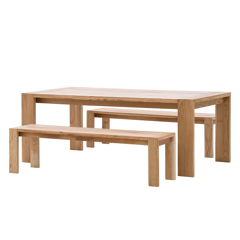 Sitzbank BRUCE - Eiche Massivholz