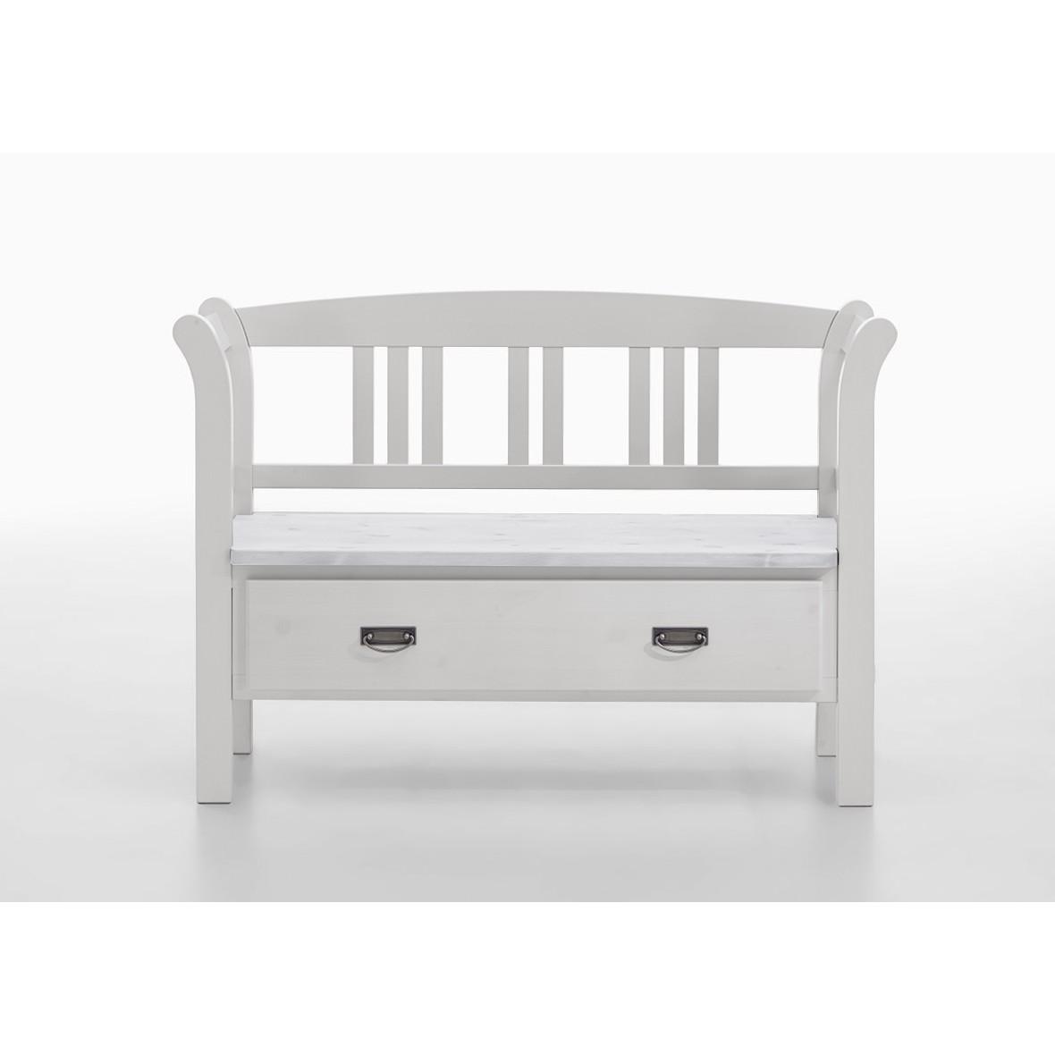 home24 Sitzbank Fjord V   Küche und Esszimmer > Sitzbänke > Einfache Sitzbänke   Weiss   Massivholz   Maison Belfort