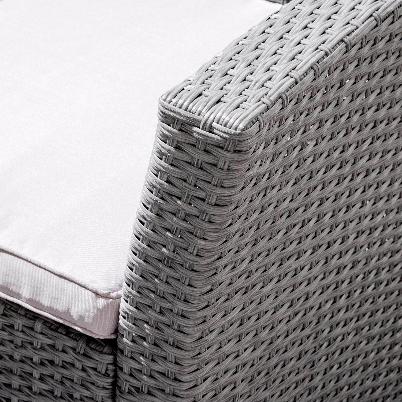 Deinen Garten Günstig Und Schick Mit Gartenmöbel Sets Von Fredriks Einrichten Webstoff / Polyrattan - Hellgrau Grau