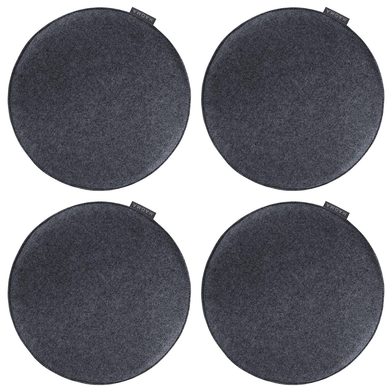 Sitzkissen Avaro (4er-Set) - Webstoff - Anthrazit, Magma Heimtex bei Home24 - Möbel