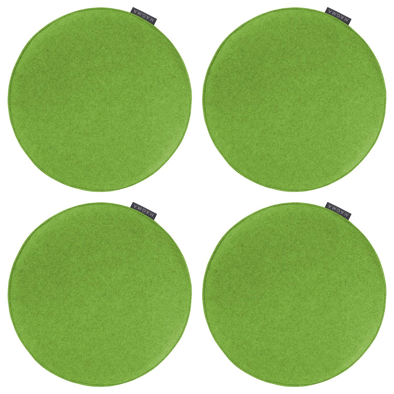 Sitzkissen Avaro (4er-Set) - Webstoff - Grasgrün, Magma Heimtex bei Home24 - Möbel