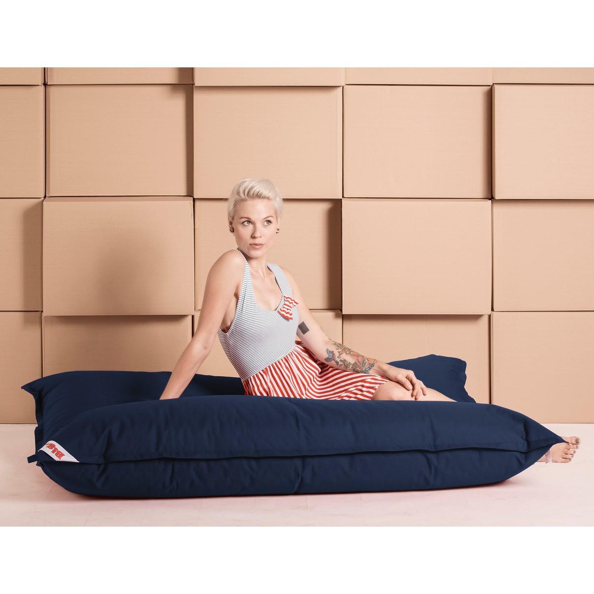 home24 SITTING POINT Sitzsack Big Bag Brava Jeansblau Flachgewebe 125x155x20 cm (BxHxT) | Wohnzimmer > Sessel