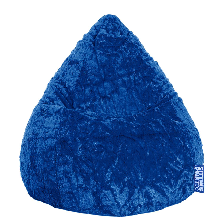 goedkoop Zitzak Fluffy XL blauw Kobaltblauw SITTING POINT