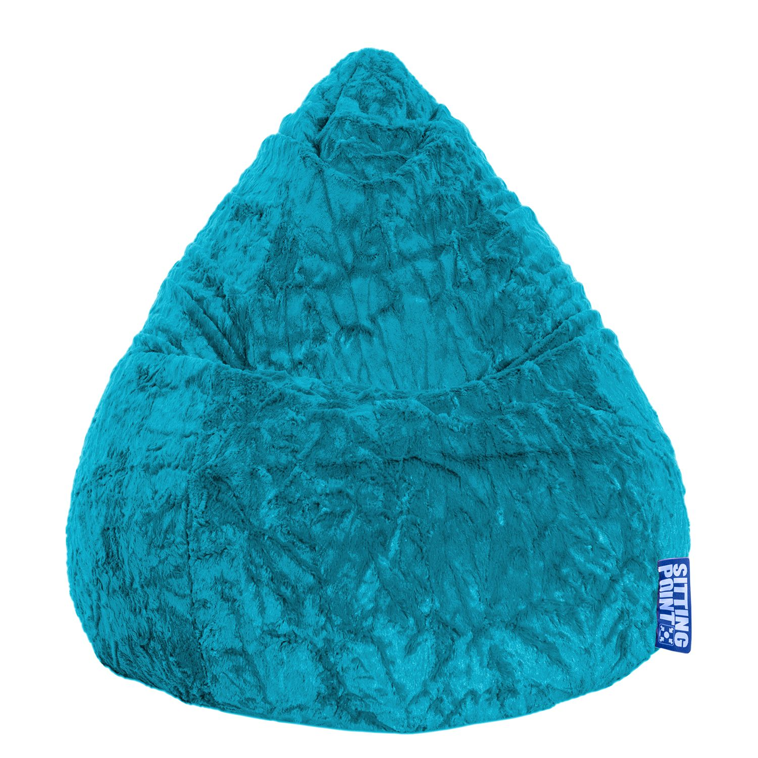 goedkoop Zitzak Fluffy XL blauw Turquoise SITTING POINT