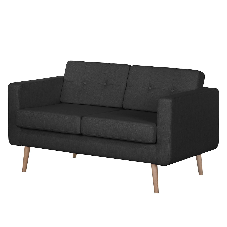 Mørteens Sofa Croom I 2-Sitzer Anthrazit Webstoff 143x84x81 cm