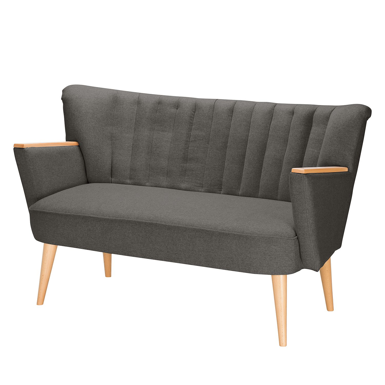Sofa Bauro (2-Sitzer) Filz - Taupe