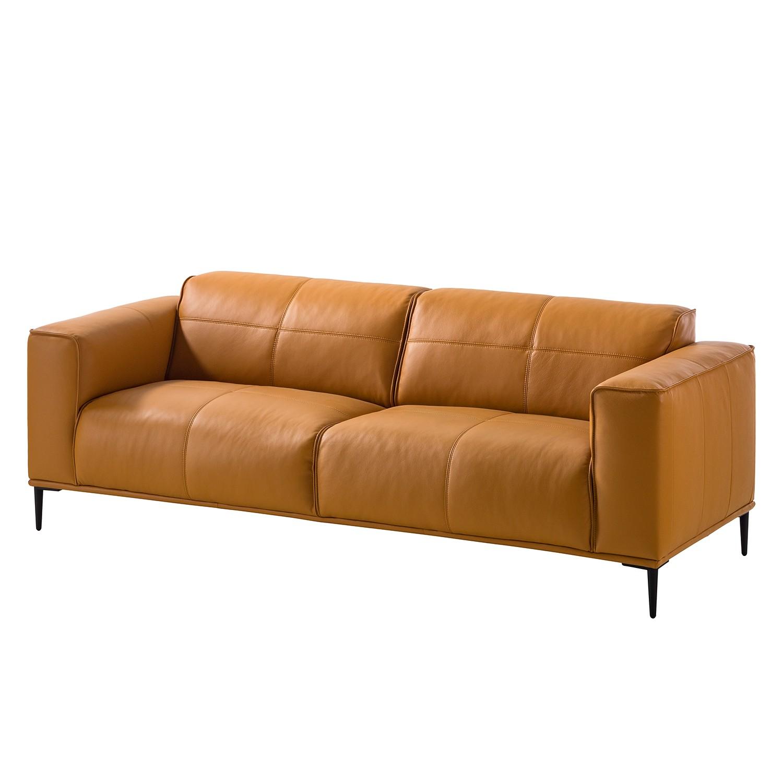 home24 Sofa Crawford (3-Sitzer) Echtleder