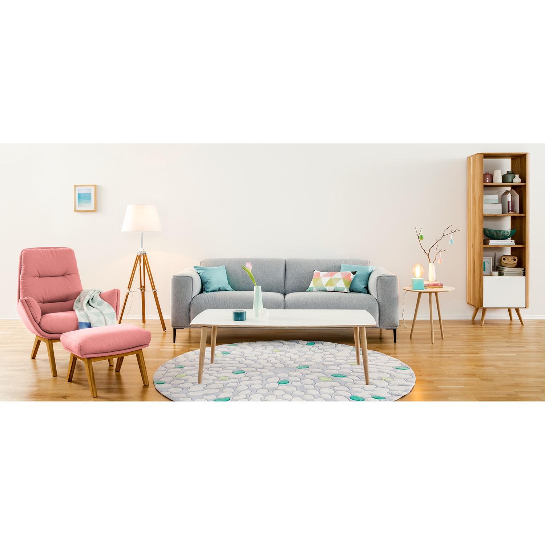 home24 Studio Copenhagen Sessel Garbo I Rosé Webstoff 83x95x92 cm (BxHxT)