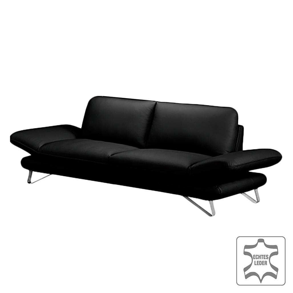 Sofa Enzo (2,5-Sitzer) Echtleder Schwarz