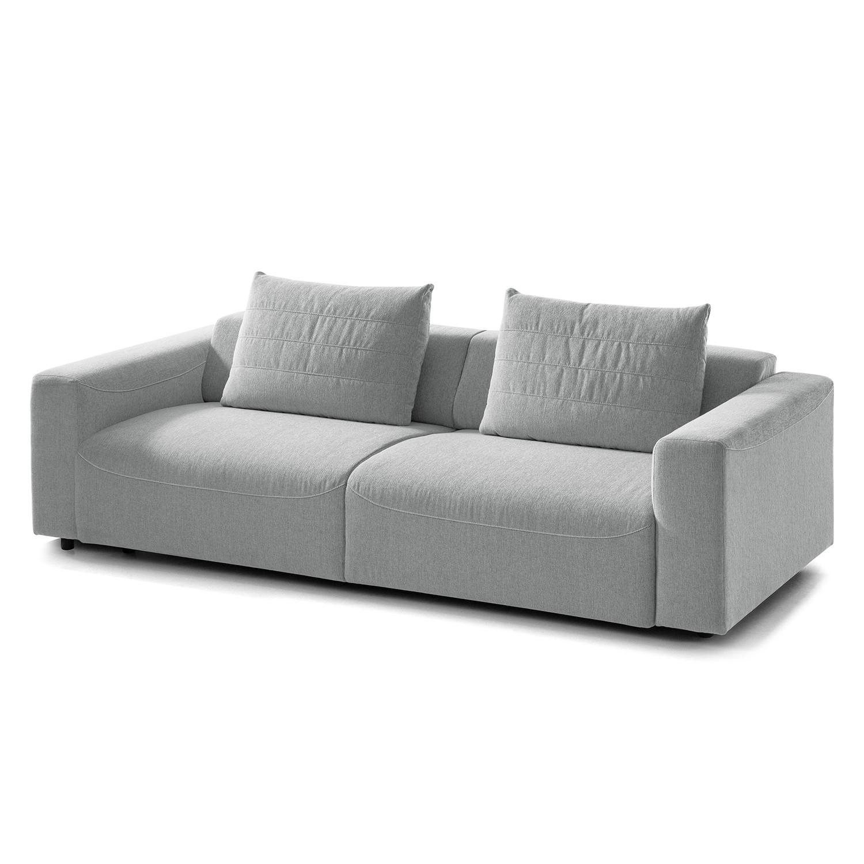 Sofa Finny (3-Sitzer) Webstoff - Keine Funktion - Stoff Saia Hellgrau