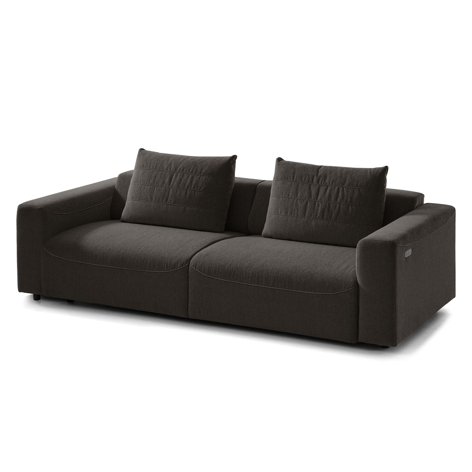sofa finny 3 sitzer webstoff sitztiefenverstellung stoff saia schwarz braun drk ehrenamt rsk. Black Bedroom Furniture Sets. Home Design Ideas