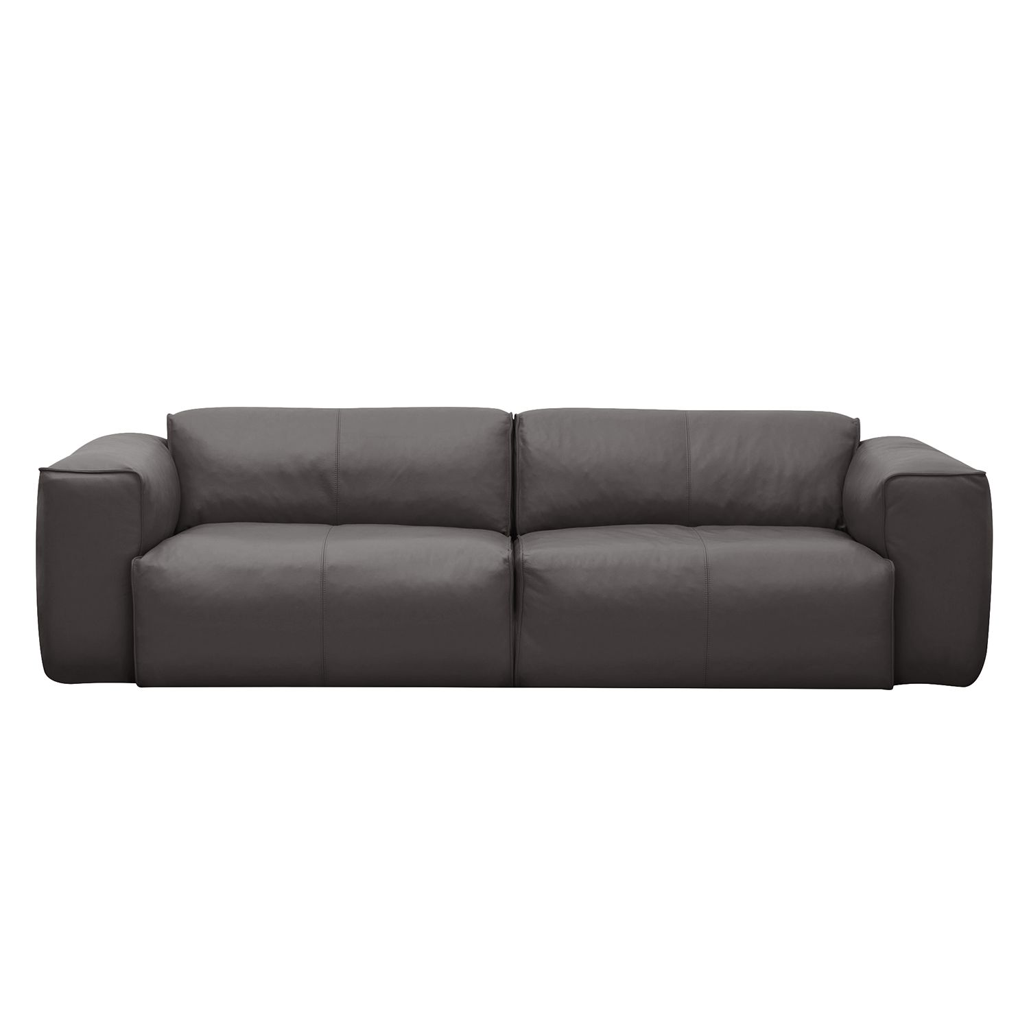 Sofa Hudson II (3-Sitzer) Echtleder - Fashion For Home