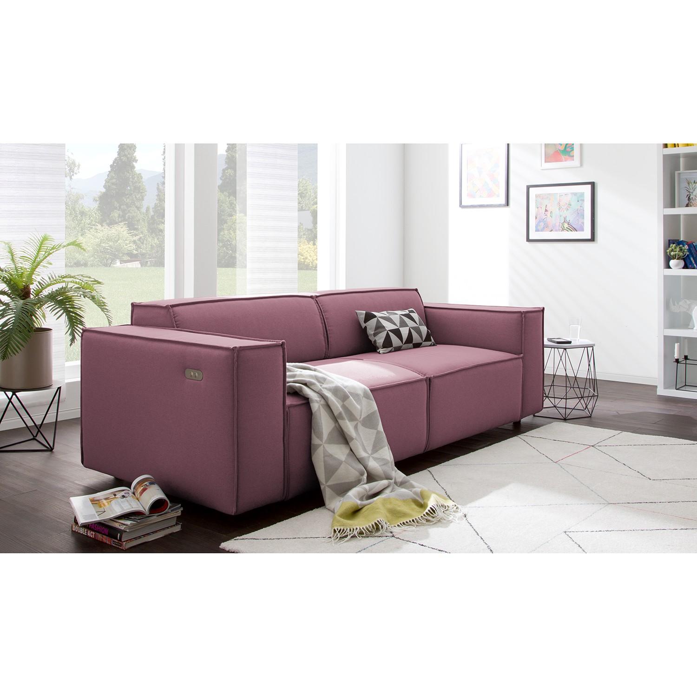 home24 Sofa Kinx 2-Sitzer Flieder Strukturstoff 189x70x96 cm (BxHxT) Modern