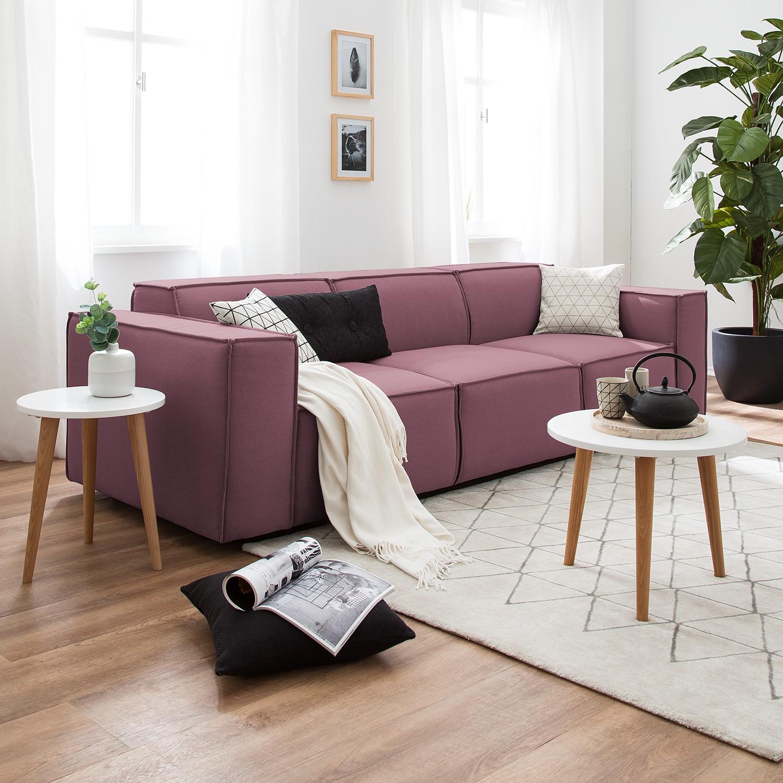 home24 Sofa Kinx 3-Sitzer Flieder Strukturstoff 260x72x96 cm (BxHxT) Modern