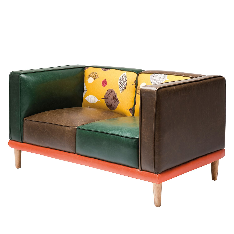 goedkoop Bank Leaf 2zitsbank kunstleer meerkleurig katoen Kare Design