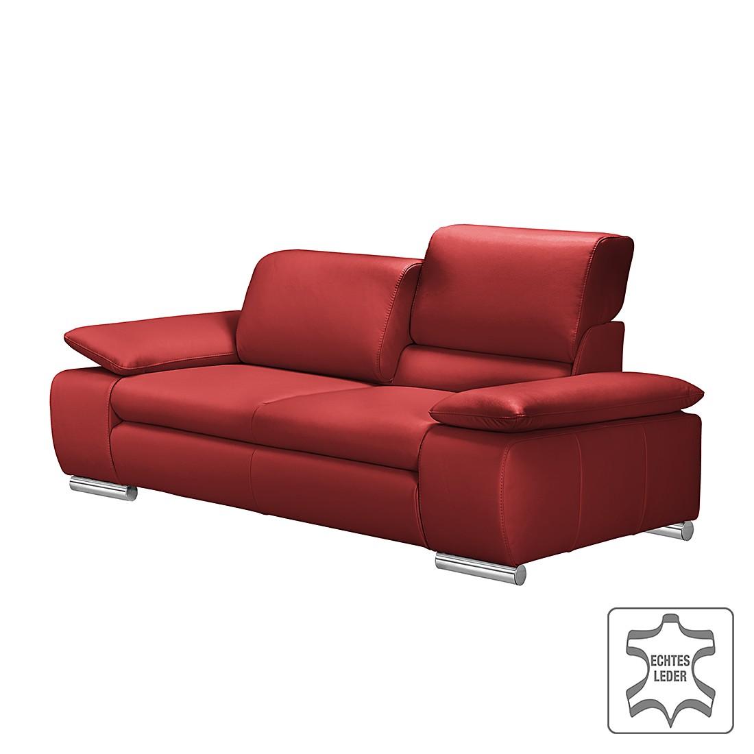 home24 Sofa Masca (3-Sitzer) Echtleder