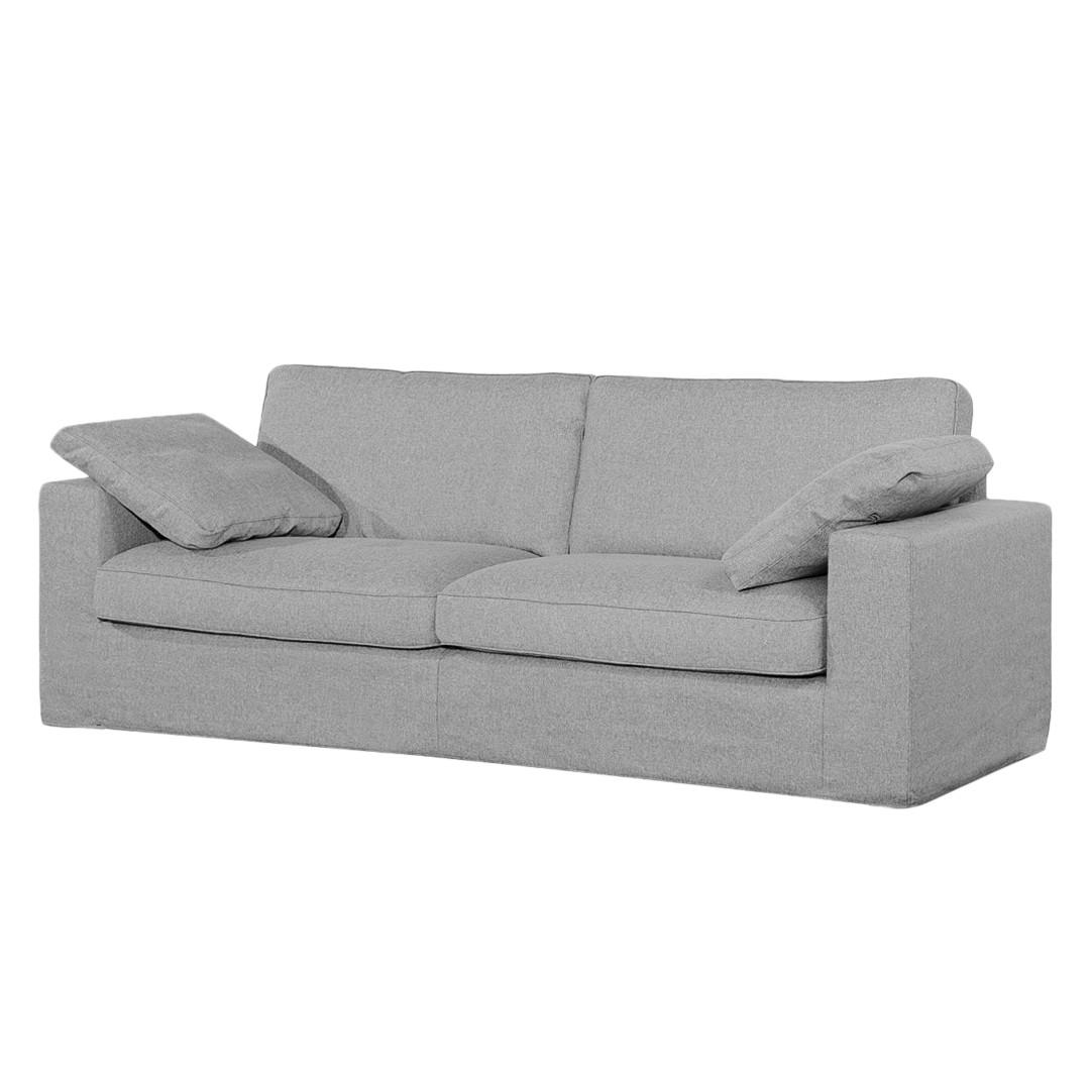 Sofa Moore (3-Sitzer) Webstoff - Stoff Valura Grau