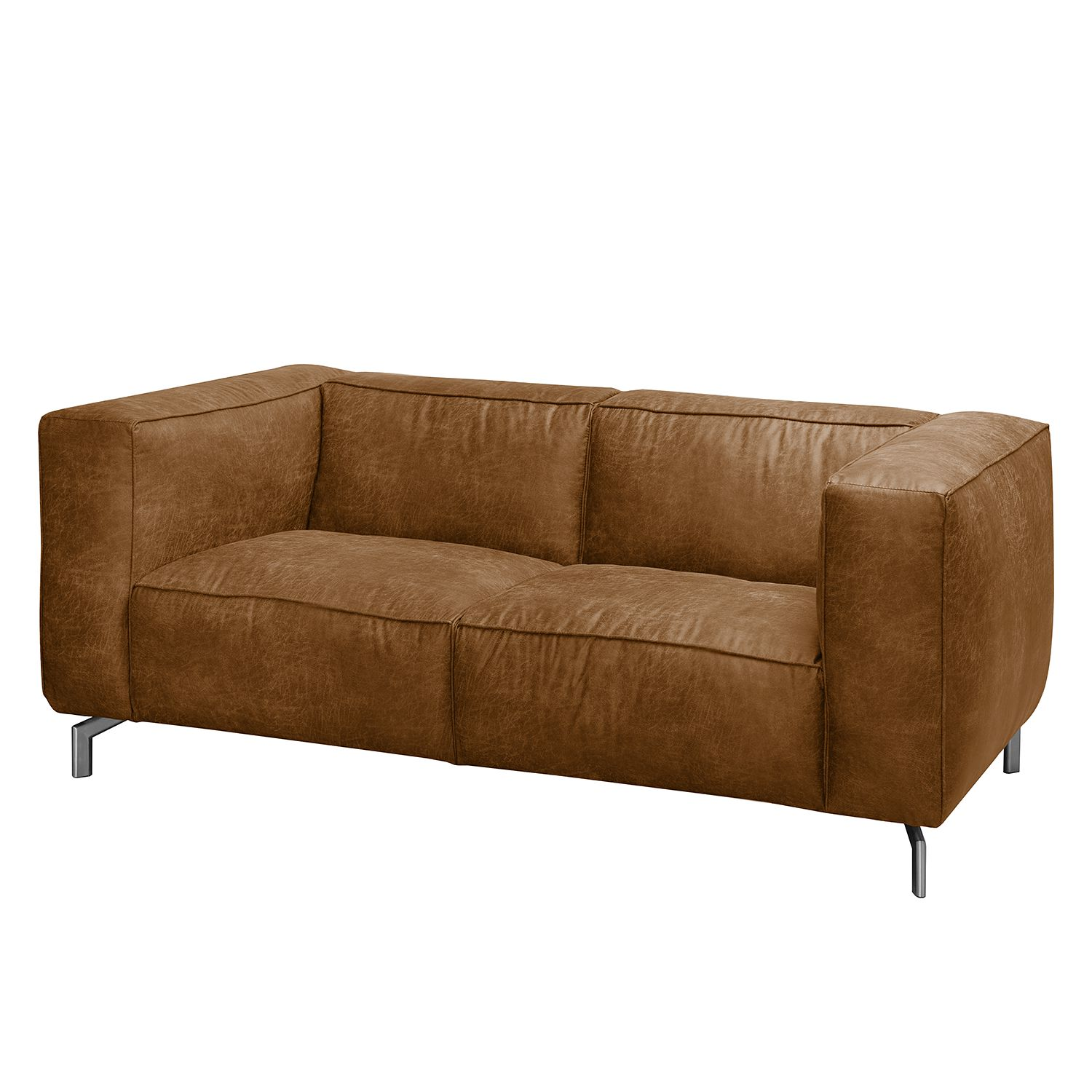 home24 Sofa Pentre (2-Sitzer) Antiklederlook