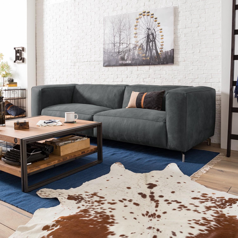 home24 Sofa Pentre (3-Sitzer) Echtleder