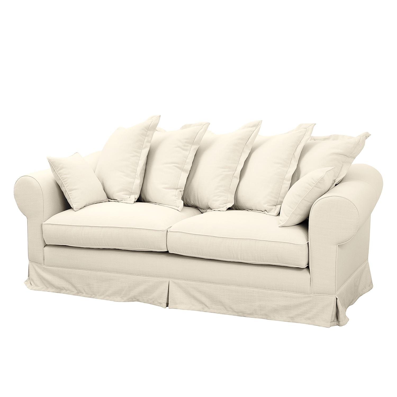 Sofa Saltum (3-Sitzer) Webstoff - Cremeweiß