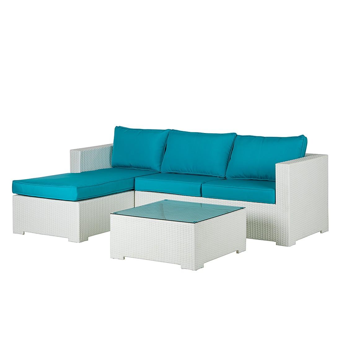 Lounge Sitzgruppe Paradise Lounge 3 Teilig Polyrattan Textil