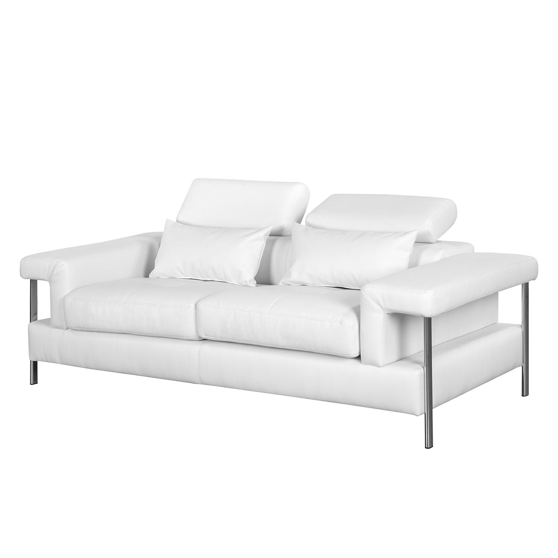 Canapé Skibsby (2 places) Imitation cuir - Blanc, roomscape