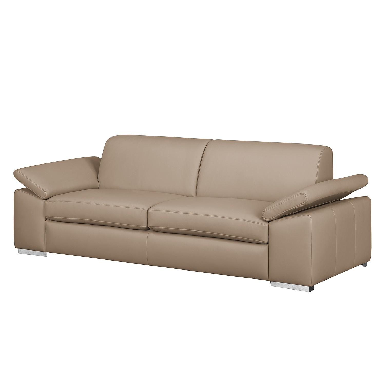 home24 Sofa Termon I (3-Sitzer) Echtleder