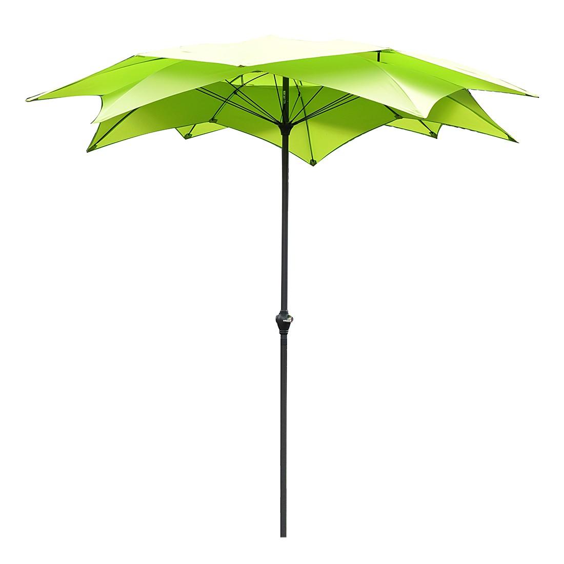 Sonnenschirm Blossom - Stahl/Polyester - Anthrazit/Grün, Leco